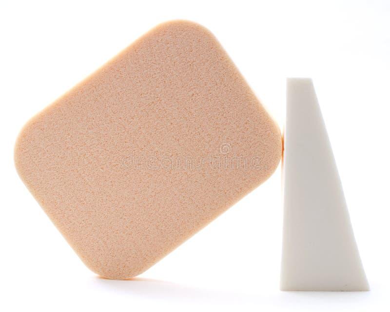 Kosmetische sponsen royalty-vrije stock afbeelding
