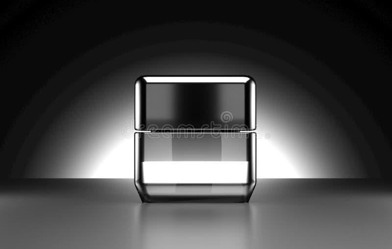 Kosmetische Wiedergabe des Pakets 3D stockbild