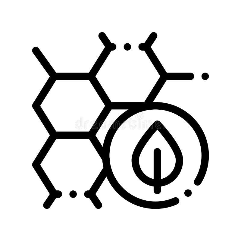 Kosmetischer Bestandteil Honey Vector Thin Line Icon stock abbildung