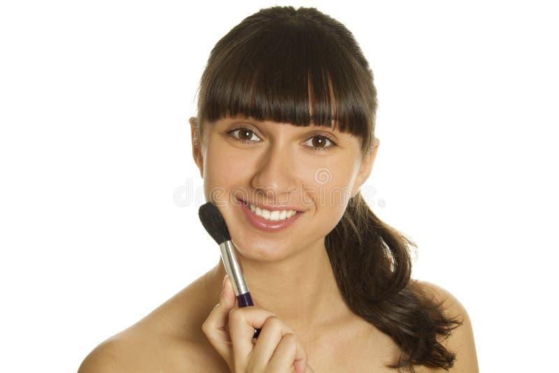 Kosmetischer Pinsel lizenzfreie stockfotografie