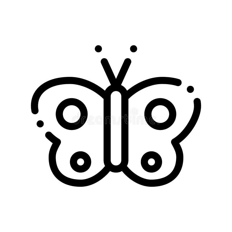 Kosmetischer Schmetterlings-Zeichen-Vektor-dünne Linie Ikone vektor abbildung