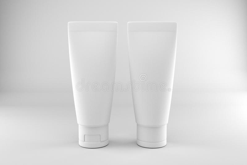 Kosmetisches Paket-Modell lizenzfreies stockbild