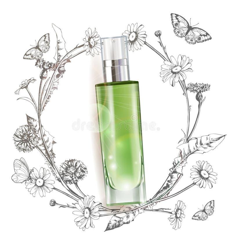 Kosmetisches Produkt, realistisches Rohrmodell für Sahnezufuhr, Lotion, Gel, Medizincreme, Toncreme, Abdeckstift, lizenzfreie abbildung