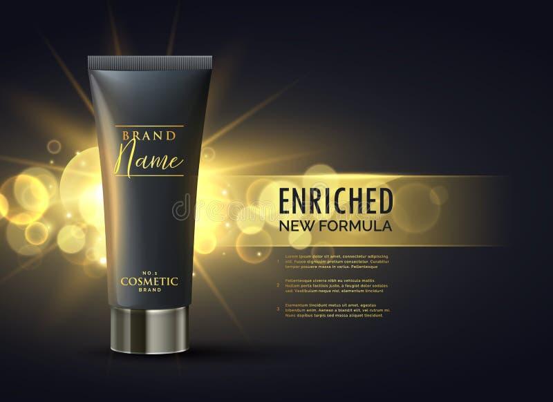 kosmetisches ProduktVerpackungsgestaltungskonzept für erstklassige Marke in d stock abbildung