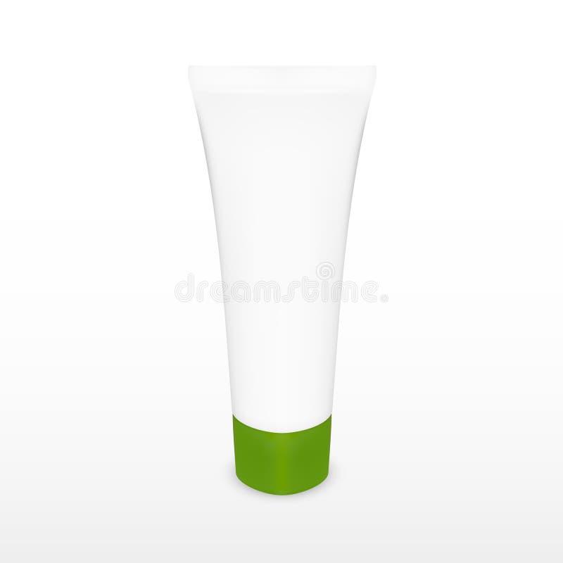 Kosmetisches Rohr Issolated auf weißem Hintergrund lizenzfreies stockfoto