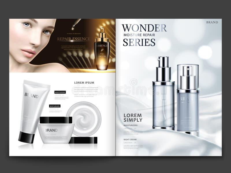 Kosmetisches Zeitschriftendesign lizenzfreie abbildung