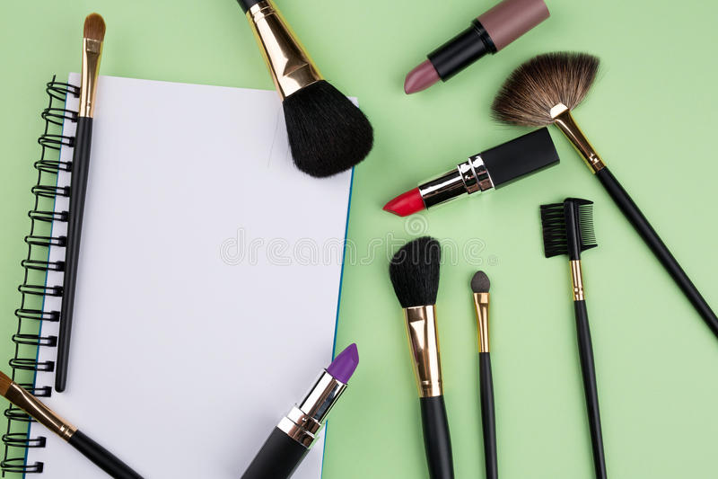 Kosmetisk bakgrund arkivfoto