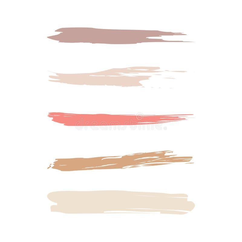 Kosmetisk borstesymbolsuppsättning stock illustrationer