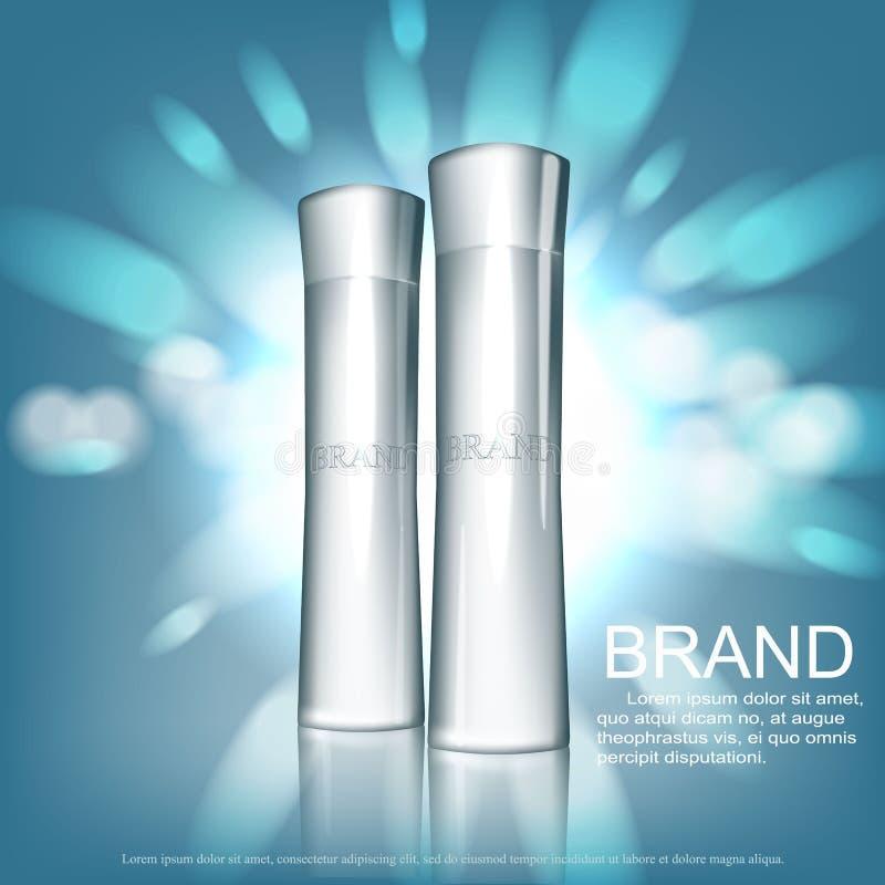 Kosmetisk designmall stock illustrationer