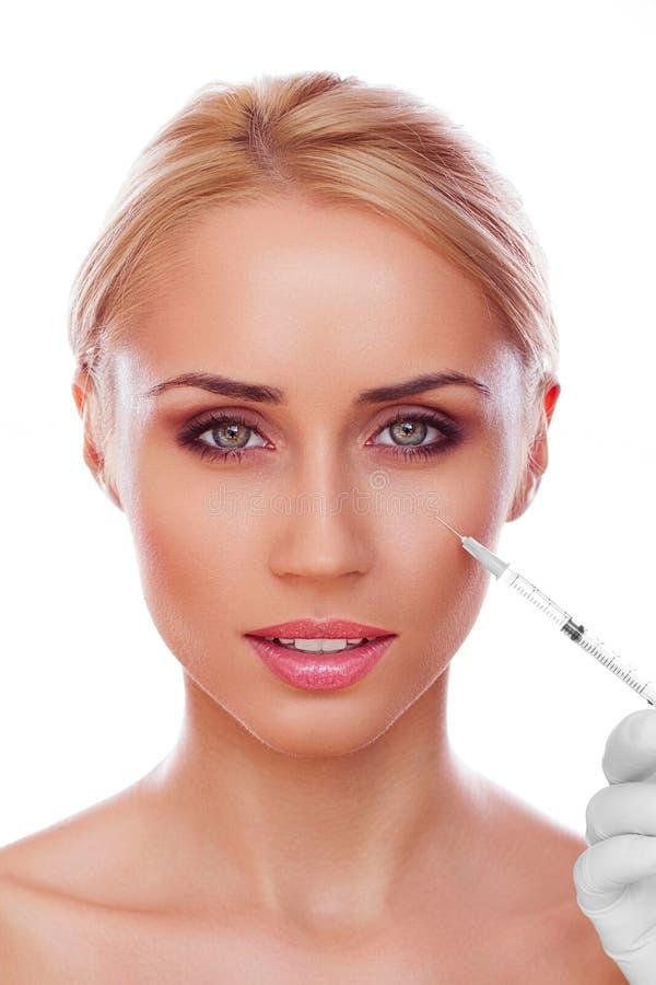 Kosmetisk injektion arkivbilder