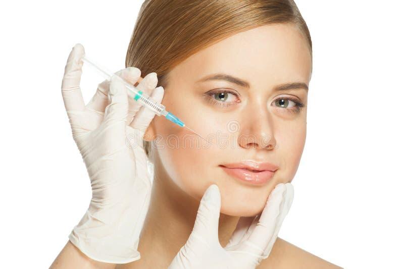 Kosmetisk injektion av botox fotografering för bildbyråer