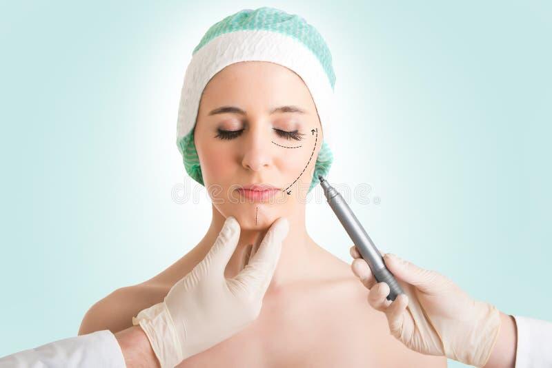 Kosmetisk kirurgi arkivbild