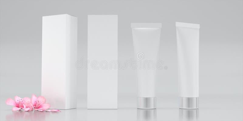 Kosmetisk packeserum royaltyfri fotografi