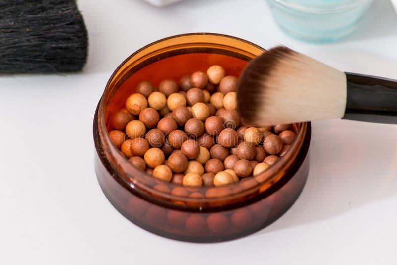 Kosmetisk saker för bästa makeup royaltyfri foto