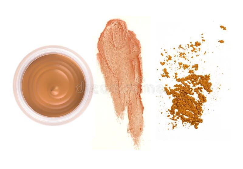 kosmetiska fundamentprodukter royaltyfria foton