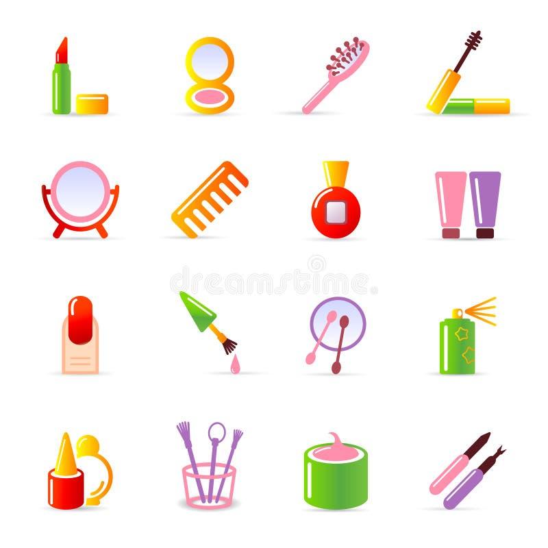 kosmetiska symboler vektor illustrationer