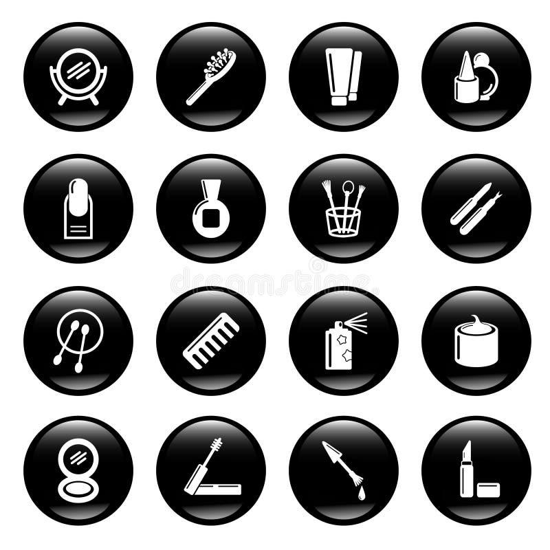 kosmetiska symboler stock illustrationer