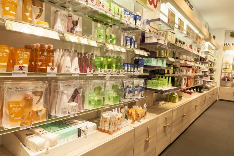Kosmetiskt produktlager arkivbilder