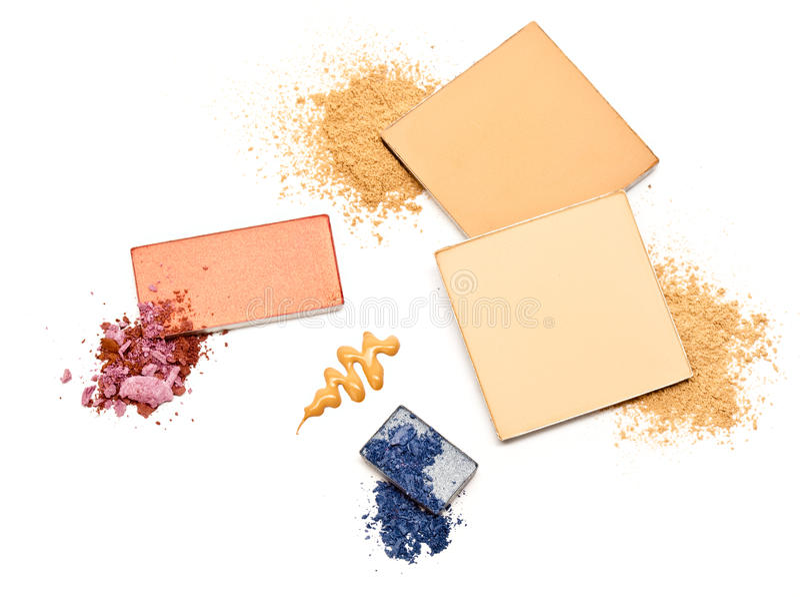 kosmetiskt pulver royaltyfria foton