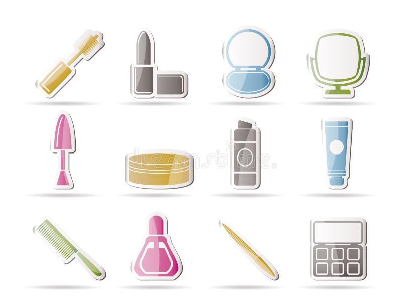 kosmetiskt symbolssmink royaltyfri illustrationer