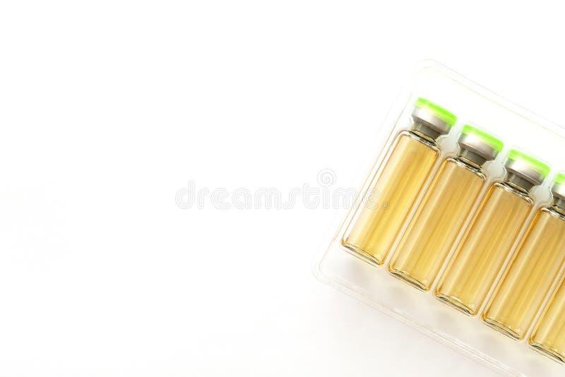 Kosmetyczna zastrzyk butelka botox, nape?niacz, kolagen i hyalurowy zjadliwy rozwi?zanie -, Wtryskowa kosmetologia fotografia stock