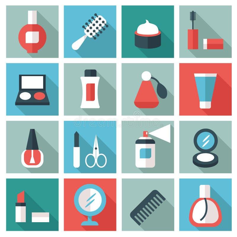 Kosmetyczne ikony ilustracji