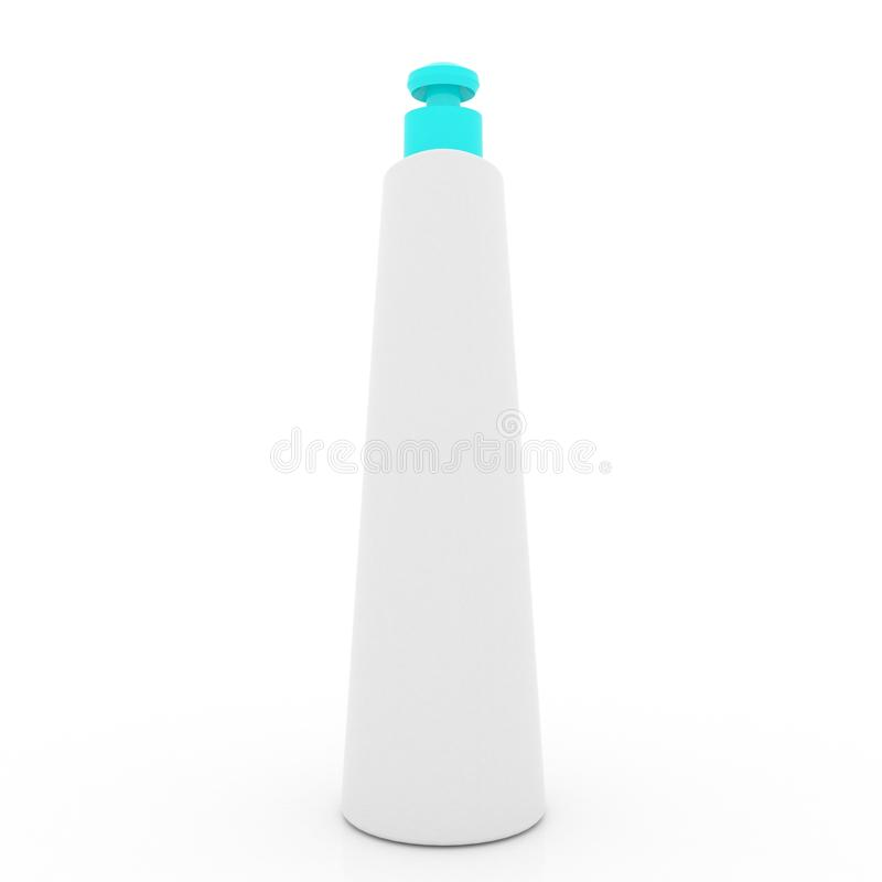 Kosmetycznego kremowego tubki mockup odosobniony biały tło zdjęcie stock