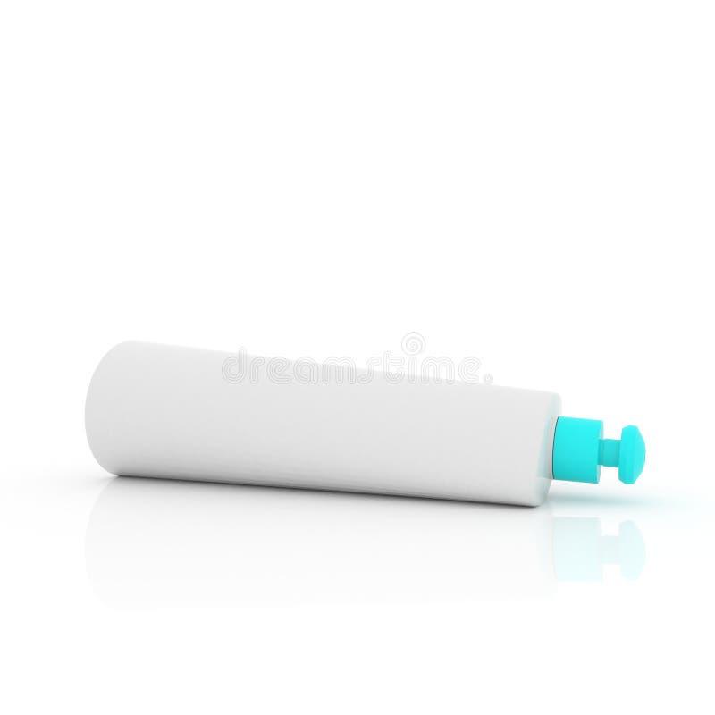 Kosmetycznego kremowego tubki mockup odosobniony biały tło zdjęcia royalty free