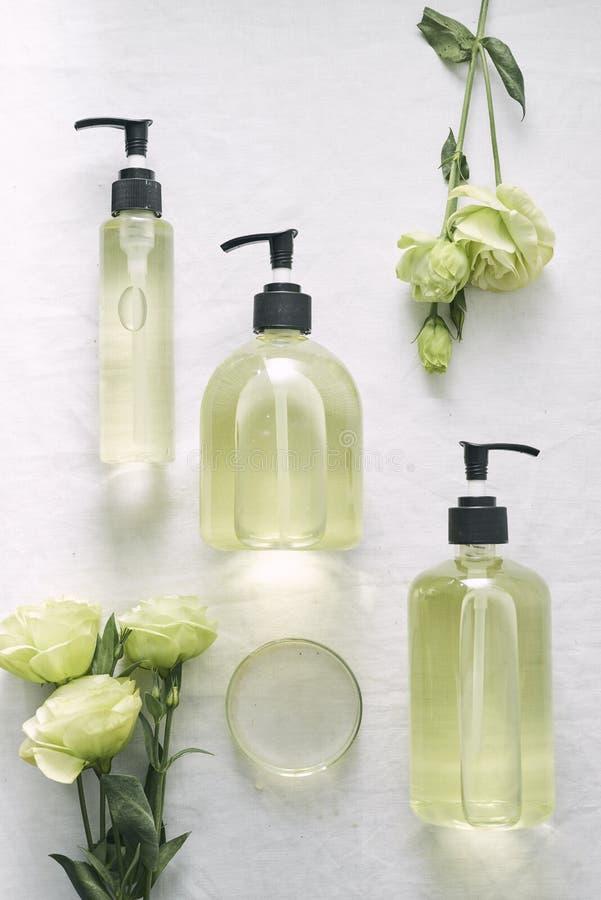 Kosmetyczny natury skincare i istotnego oleju aromatherapy organicznie naturalnej nauki pi?kna produkt Zio?owa alternatywna medyc fotografia stock