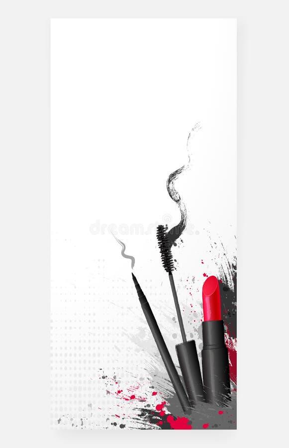 Download Kosmetyczny Piękna Makeup Tło Ilustracja Wektor - Ilustracja złożonej z eyeshadow, reklama: 65226292