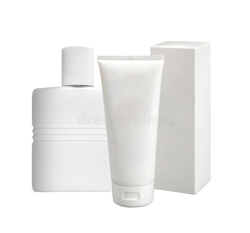 Kosmetyków zbiorniki i paczki obraz stock
