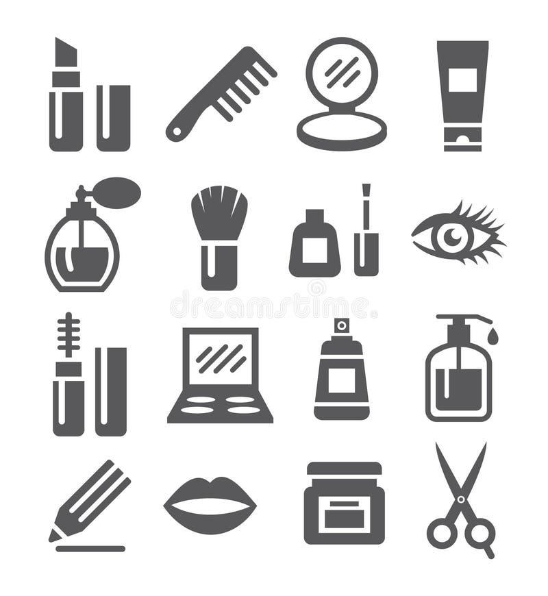 Kosmetyk ikony royalty ilustracja
