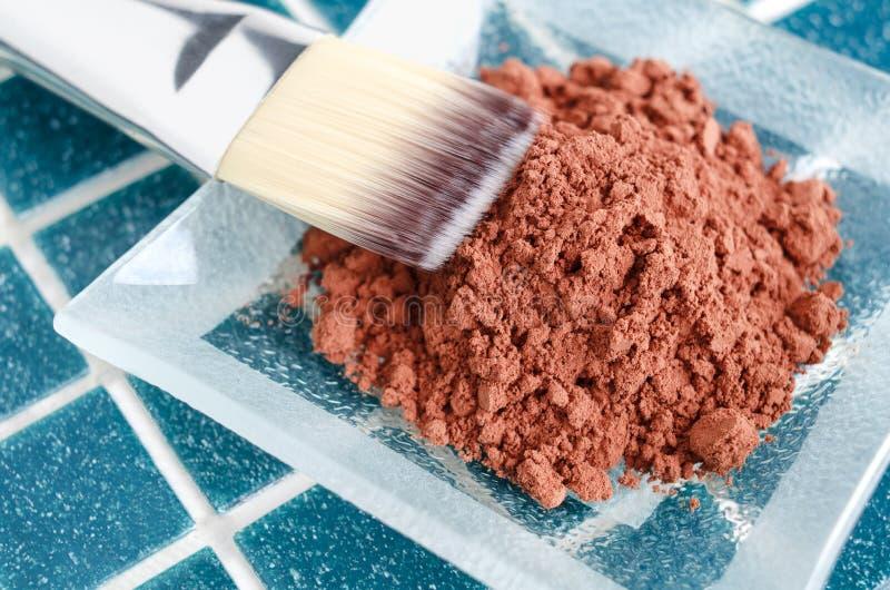 Kosmetyk maska robić kakaowy proszek fotografia royalty free