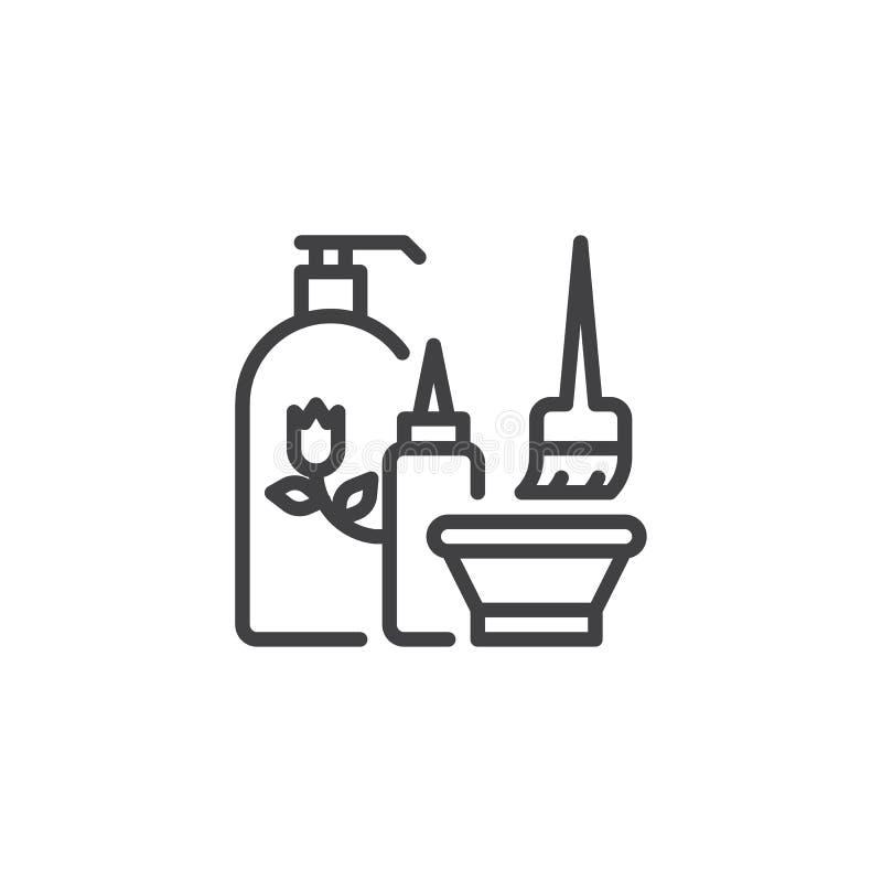 Kosmetyk ustawiająca kreskowa ikona ilustracji