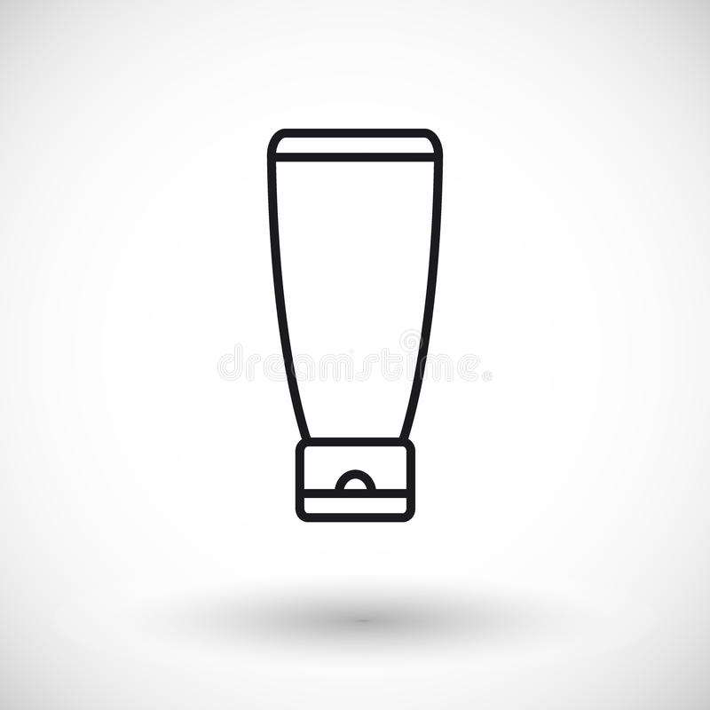 Kosmetyka produktu sieci cienka kreskowa ikona ilustracja wektor