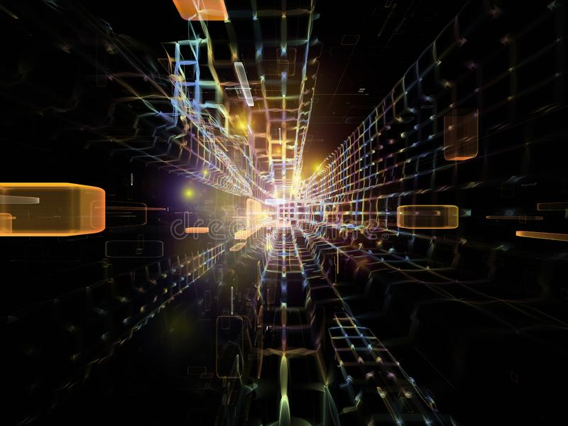 Kosmiczny korytarz ilustracja wektor