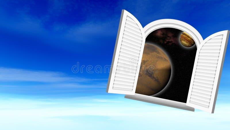 kosmiczny okno ilustracji