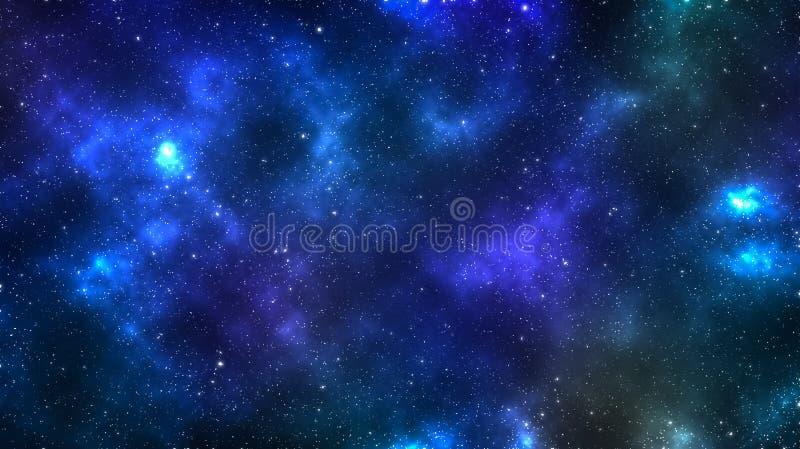 Kosmische Afgelegen Melkwegachtergrond, stardust en het heldere glanzen st stock illustratie