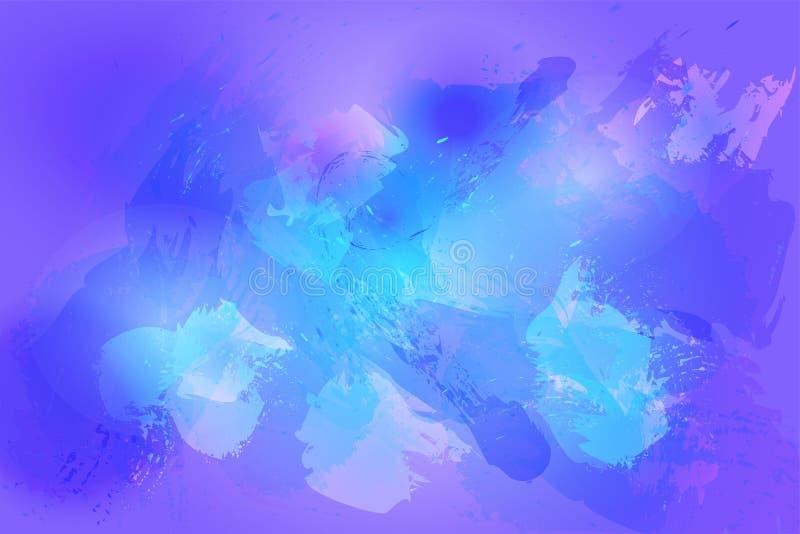Kosmische dynamische achtergrond in blauw en purper vector illustratie