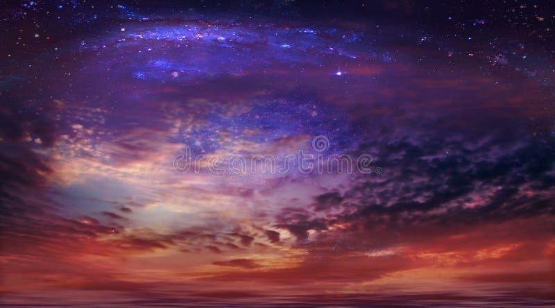 Kosmische hemel royalty-vrije stock foto's