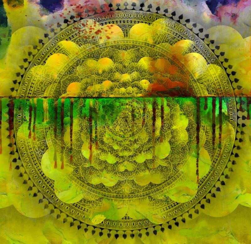 Kosmische Mandala lizenzfreies stockbild