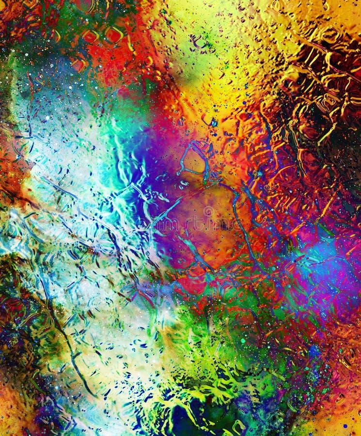Kosmische ruimte en sterren, kosmisch abstract achtergrond en glaseffect De ruimte van het exemplaar stock afbeeldingen