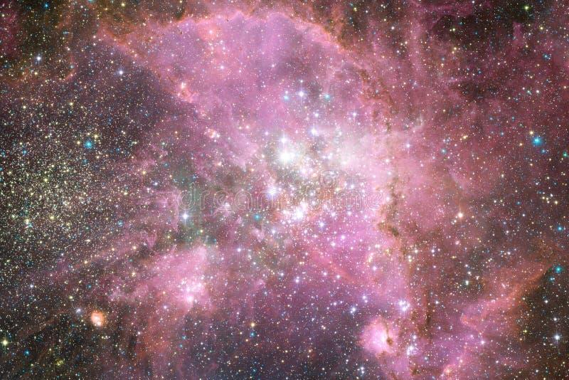 Kosmische ruimteart. Nebulas, melkwegen en heldere sterren in mooie samenstelling royalty-vrije stock fotografie