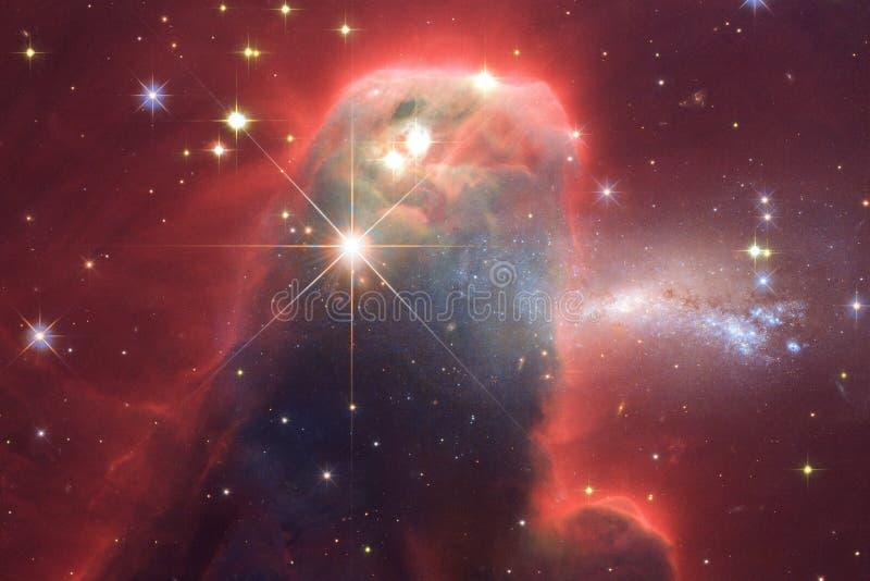 Kosmischer Galaxiehintergrund mit Nebelflecken, stardust und hellen Sternen Elemente dieses Bildes geliefert von der NASA stock abbildung