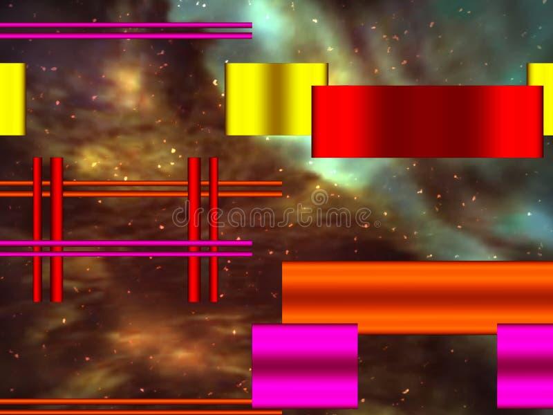 Kosmisches buntes der Formen stock abbildung