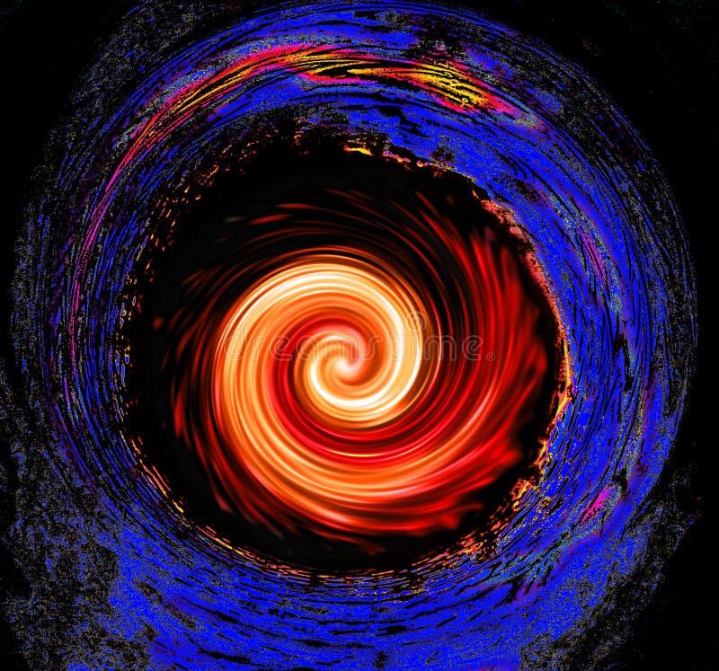 Kosmisches schwarzes Loch stockfoto