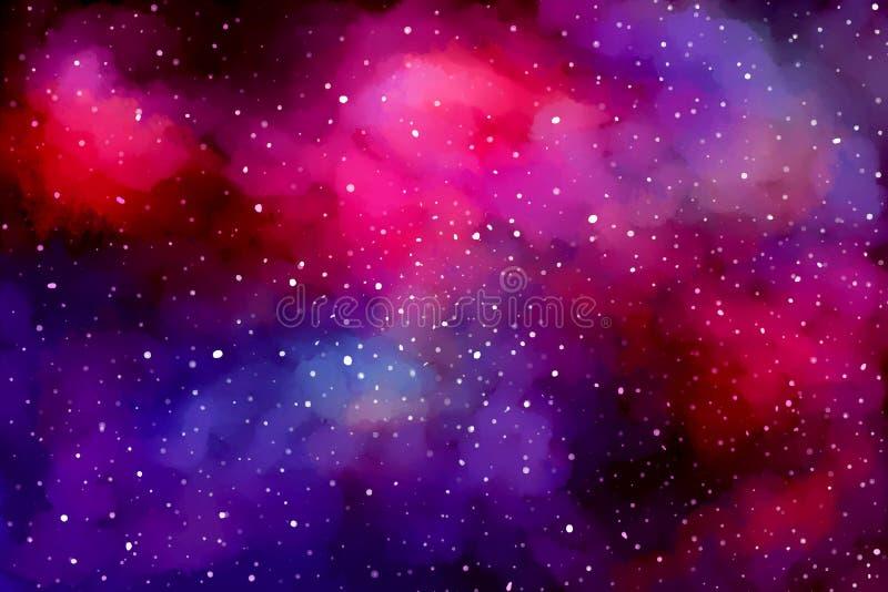 kosmisk bakgrund stock illustrationer