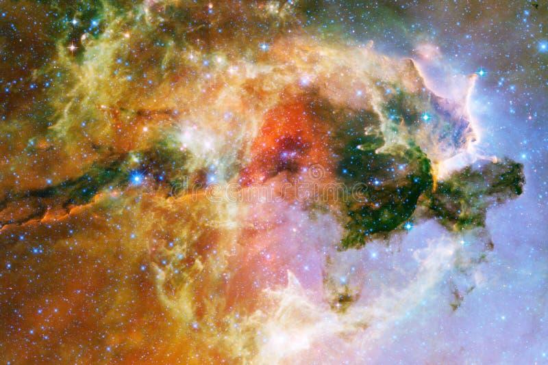 Kosmisk galaxbakgrund med nebulosor, stardust och ljusa stjärnor Beståndsdelar av denna avbildar möblerat av NASA fotografering för bildbyråer