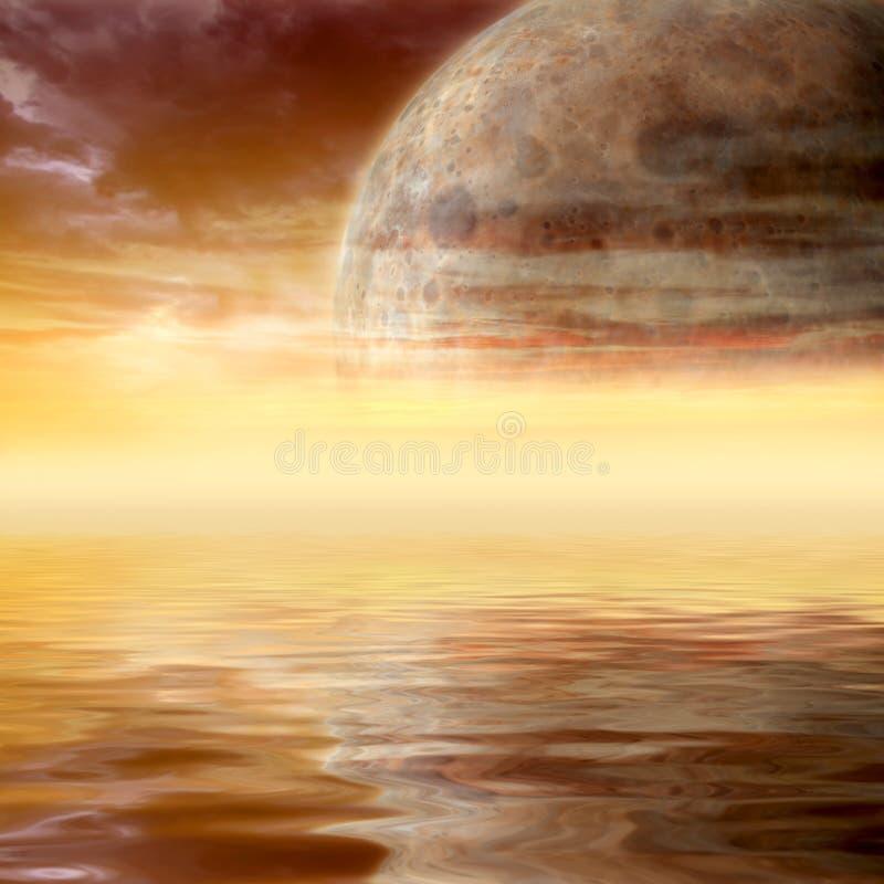 kosmisk liggande stock illustrationer