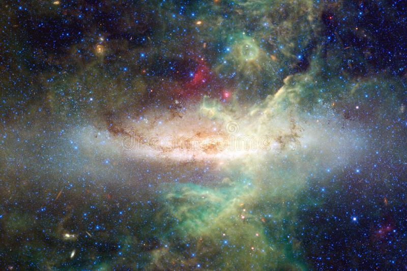 Kosmiskt landskap, enorm sciencetapet royaltyfri fotografi